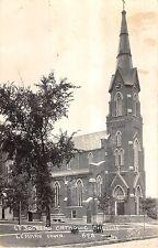 Lemars Iowa St. Joseph's Catholic Church Exterior Real Photo Postcard V17450