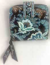 Vera Bradley Women's Billfold Wallet Money Quilted Java Blue Floral Retired