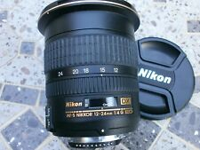 EXCELLENT NIKON 12-24mm DX NIKKOR F/4.0 AF-S IF G ED Wide angle Zoom Lens + hood