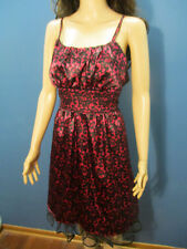 size 16 red and black lined zip up formal dress by FASHION BUG - mesh fringe