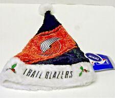 NBA Portland Trail Blazers Santa Hat Cap Beanie Embroidered  Pom Fleece Faux Fur