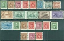 CANADA : 1942-48. Unitrade #249-62. Also #263-67, 278-83. Mint NH. Cat $425