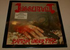 Juggernaut Baptism Under Fire First Press Metal Blade MBR 1058 Lp Shrink + Hype