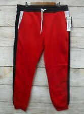 Southpole Mens Size XLarge Red with Blue Trim Fleece Skinny Jogger Pants New