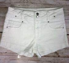 Almost Famous White Denim Jean Shorts Size Junior 3