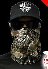 SA CO Official Snow Forest Camo Face Shield Mask Balaclava Neck Gaiter Bandanna