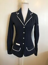 SPOOKS Riding Navy Blue Show Coat Riding Jacket Size Medium Soft Shell