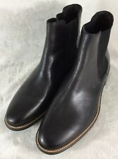 Bacco Bucci Men's Ankle Boots Pull On Dark Brown Leather w/Elastic Gusset Sz 13M
