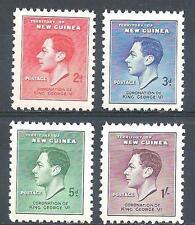 New Guinea 1937 Sc# 48-51 set Coronation George VI  MNH