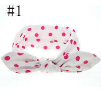Infant Children Fashion Rabbit Ears Baby Girl Dot Headband Knot Hair Bands