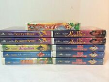 LOT OF 11 Disney Black Diamond VHS Movies Beauty and the Beast Bambi Dumbo etc.