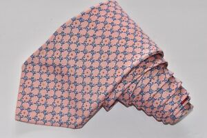 """Bvlgari 7 Fold Pink Men's Neck Tie W:3 3/4 """" by L: 61 """"MADE IN Italy"""