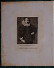 1779 DATED ANTIQUE PRINT ~ THOMAS LORD WENTWORTH