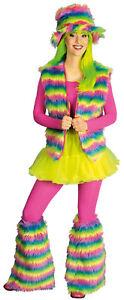 70er 80er Jahre Weste Kostüm Flowerpower Damen Hippie Hippy Hippiekostüm Party