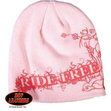 Hot LEATHERS MOTO BICICLETA Gorra para esquiar rosa Gorro Ride Free KHB1002