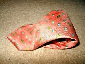 BVLGARI SEVEN FOLD CORAL DRESS TIE
