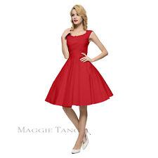 Maggie Tang 50s VTG Retro Pinup Hepburn Rockabilly Swing Business Dress R-567