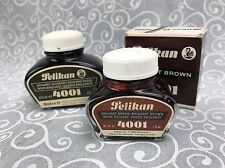 Vintage Pelikan Ink 4001 Brilliant Brown & Black Fountain Pens Calligraphy