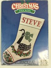 "Good Shepherd 16"" Counted Cross Stitch Kit Christmas Stocking Canada Goose 87204"