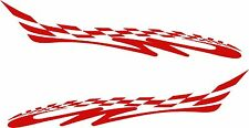 """Tribal Decals Racing Flames Vehicle Car Truck Kart Boat Graphics Stickers 50"""""""