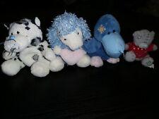 Me To You Bears. Blue Nose Friends. Tatty Teddy Plush. X 4