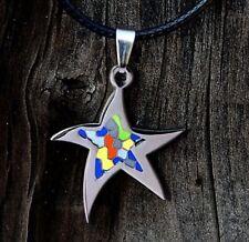 ESTRELLA MATINAL amuleto MÁGICO esmalte COLGANTE acero inox. BASQUELIVE vasco