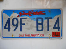 plaque immatriculation  usa south dakota license plate old americaine bt4