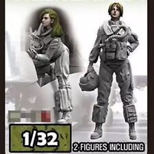 1/32 Resin Figure Model Kit US Navy Modern Woman Pilot Unpainted Unassambled
