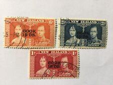 1937 New Zealand ovpt Cook Islands Coronation Complete Set