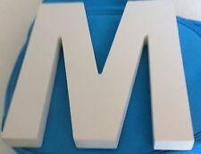 """20CM WHITE WOODEN LETTER """"M"""""""