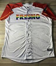 "Fresno Grizzlies LGBTQ ""Pride Night"" Game Worn Jersey Size 50 (2XL) RARE! #56"