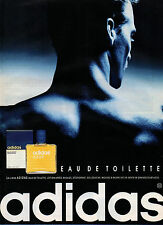 Publicité Advertising 1992  Parfum ADIDAS eau de toilette Natural Spray