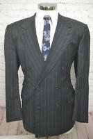 Chester Barrie Mens Gray Wool Pinstripe Sport Coat Blazer Jacket SIZE 44R