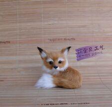 small cute simulation fox toy polyethylene & furs brown fox doll gift 9x7x8cm