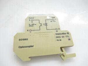 WEIDMULLER OPTOCOUPLER DKO 24V VOLT 801863 LOT OF 5(USED TESTED)