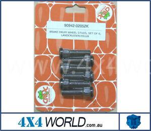 For Toyota Landcruiser HZJ75 FZJ75 Series Wheel Studs (6) - Rear Disc/Drum