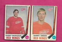 1969-70 OPC RED WINGS GARRY UNGER + GARRY MONAHAN CARD (INV# C4323)