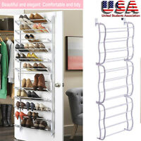 36 Pairs Over-The-Door Shoe Rack Wall Hanging 12 Layers Closet Organizer Storage