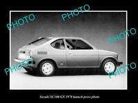 OLD LARGE HISTORIC PHOTO OF 1978 SUZUKI SC100 GX LAUNCH PRESS PHOTO
