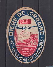 Ancienne étiquette Bière Alcool France Bière de Lorraine Cigogne 1