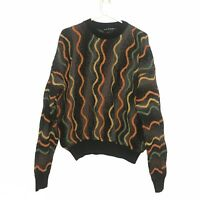 Vtg Men's TUNDRA Canada Multi Colored Cosby Hip Hop Coogi Style Sweater Size L