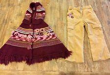 Koala Kids Outfit Set Toddler Girls Hooded Sweater w/Corduroy Pants 24 Months