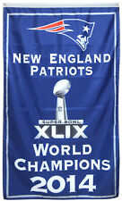 New England Patriots 2014 world Champions  flag 3x5ft  banner US Shipper