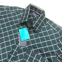 NEW Ted Baker London Shirt Specialist Men's Teal Plaid Dress Shirt • Size 2