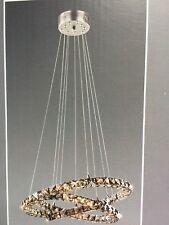 NEXT 5 Light Smoked Coronas LED 3 Ring Pendant chandelier Ceiling Lighting NEW