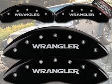 "2008-2012 Jeep Liberty Front Rear ""Wrangler"" Black MGP Brake Disc Caliper Covers"