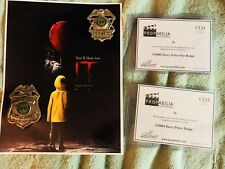 IT 2017 Prop Police Badge Set Screen Used COA Pennywise Movie Props