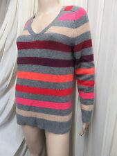 Cashmere V Neck Striped Jumpers & Cardigans for Women