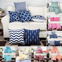 6PC/Set Cotton Linen Pillowcase Sofa Cushion Throw Pillow Cover Home Decorative