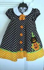 Bonnie Jean Toddler Girl's 2-Piece Festive Halloween Polka-Dot Dress Set-Size-2T